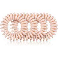 BrushArt Hair Rings Natural gumičky do vlasov 4 ks Nude