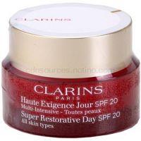Clarins Super Restorative Day denný liftingový krém proti vráskam pre všetky typy pleti SPF 20 50 ml