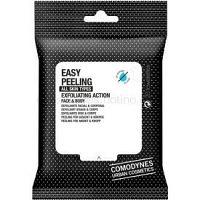 Comodynes Easy Peeling exfoliačné obrúsky na tvár a telo 20 ks