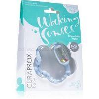 Curaprox Baby Waking Senses kúsací krúžok s masážnou kefkou a hrkálkou