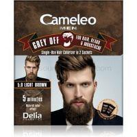 Delia Cosmetics Cameleo Men jednorázová farba pre okamžité zakrytie šedín odtieň 5.0 Light Brown 2 x 15 ml