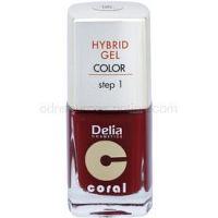 Delia Cosmetics Coral Nail Enamel Hybrid Gel gélový lak na nechty odtieň 06  11 ml