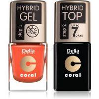 Delia Cosmetics Coral Nail Enamel Hybrid Gel kozmetická sada (na nechty)