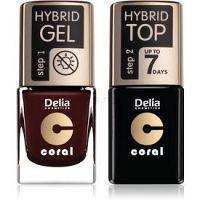 Delia Cosmetics Coral Nail Enamel Hybrid Gel kozmetická sada na nechty odstín 11