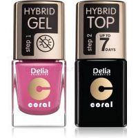 Delia Cosmetics Coral Nail Enamel Hybrid Gel kozmetická sada na nechty pre ženy odstín 05