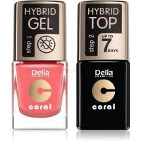 Delia Cosmetics Coral Nail Enamel Hybrid Gel kozmetická sada na nechty pre ženy odstín 16