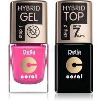 Delia Cosmetics Coral Nail Enamel Hybrid Gel kozmetická sada na nechty pre ženy odstín 22