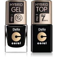 Delia Cosmetics Coral Nail Enamel Hybrid Gel kozmetická sada na nechty pre ženy odstín 26