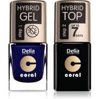 Delia Cosmetics Coral Nail Enamel Hybrid Gel kozmetická sada na nechty pre ženy odstín 29