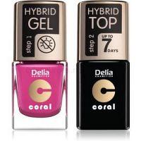 Delia Cosmetics Coral Nail Enamel Hybrid Gel kozmetická sada na nechty pre ženy odstín 30