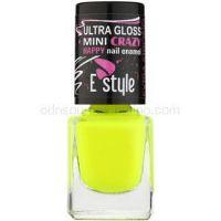 E style Mini Crazy neónový lak na umelé aj prírodné nechty odtieň 26 Yellow 7 ml