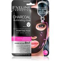 Eveline Cosmetics Charcoal Illuminating Ritual hydratačná látková maska