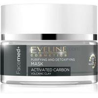Eveline Cosmetics FaceMed+ čistiaca a detoxikačná maska s aktívnym uhlím 50 ml
