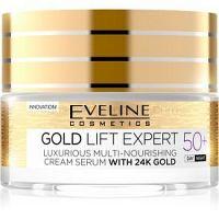 Eveline Cosmetics Gold Lift Expert denný a nočný krém proti vráskam 50+ 50 ml