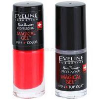 Eveline Cosmetics Nail Therapy Professional gélový lak na nechty bez použitia UV/LED lampy odtieň 07  2 x 5 ml