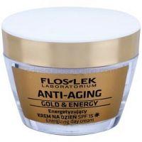 FlosLek Laboratorium Anti-Aging Gold & Energy energizujúci denný krém SPF 15 50 ml