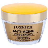 FlosLek Laboratorium Anti-Aging Gold & Energy posilňujúci nočný krém 50 ml