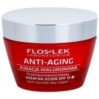 FlosLek Laboratorium Anti-Aging Hyaluronic Therapy denný hydratačný krém proti starnutiu pleti SPF 15 50 ml