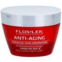 FlosLek Laboratorium Anti-Aging Hyaluronic Therapy nočný hydratačný krém s protivráskovým účinkom 50 ml