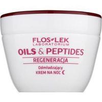 FlosLek Laboratorium Oils & Peptides Regeneration 60+ regeneračný nočný krém s omladzujúcim účinkom 50 ml