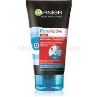 Garnier Pure Active čierna maska na tvár na čierne bodky s aktivným uhlím 3v1 150 ml