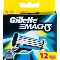 Gillette Mach 3 náhradné žiletky 12 ks