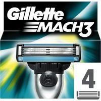 Gillette Mach 3 náhradné žiletky 4 ks