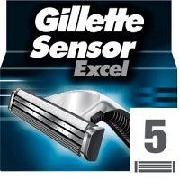 Gillette Sensor Excel náhradné žiletky pre mužov 5 ks