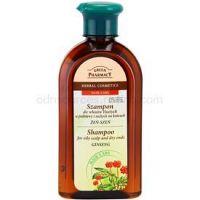 Green Pharmacy Hair Care Ginseng šampón pre mastnú vlasovú pokožku a suché končeky 350 ml