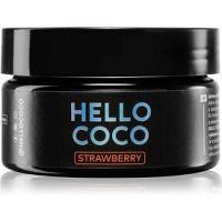 Hello Coco Strawberry aktívne uhlie na bielenie zubov príchuť Strawberry