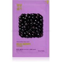 Holika Holika Pure Essence Acai Berry exfoliačná plátienková maska 20 ml