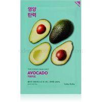 Holika Holika Pure Essence Mask Sheet Avocado upokojujúca plátienková maska 20 ml