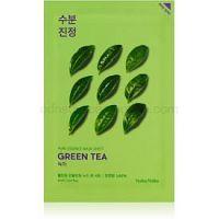 Holika Holika Pure Essence Mask Sheet Green Tea ošetrujúca plátienková maska pre citlivú pleť so začervenaním 20 ml