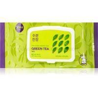 Holika Holika Pure Essence Mask Sheet Green Tea osviežujúca ranná maska s výťažkom zeleného čaju 30 ks