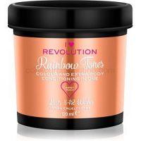 I Heart Revolution Rainbow Tones vymývajúca sa farba na vlasy   odtieň Sweet Peach 120 ml