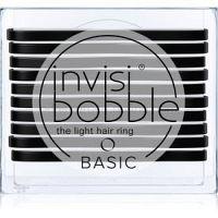 invisibobble Basic tenké gumičky do vlasov True Black 10 ks