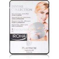 Iroha Divine Collection Platinum & Hyaluronic Acid hydratačná a rozjasňujúca maska  25 ml