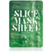 KOCOSTAR Slice Mask Sheet Cucumber upokojujúca plátienková maska s hydratačným účinkom  20 ml
