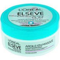 L'Oréal Paris Elseve Extraordinary Clay čistiaca maska pre rýchlo sa mastiace vlasy 150 ml