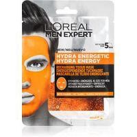 L'Oréal Paris Men Expert Hydra Energetic hydratačná plátienková maska pre mužov 30 g