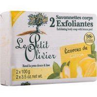 Le Petit Olivier Lemon peelingové mydlo 2 x100 g