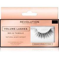 Makeup Revolution False Lashes Volume nalepovacie mihalnice + lepidlo 1 ml NO.10 Tangle
