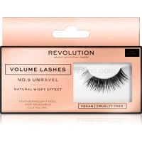 Makeup Revolution False Lashes Volume nalepovacie mihalnice + lepidlo 1 ml NO.9 Unravel