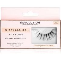 Makeup Revolution False Lashes Wispy nalepovacie mihalnice + lepidlo 1 ml NO.5 Floss