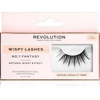 Makeup Revolution False Lashes Wispy nalepovacie mihalnice + lepidlo 1 ml NO.7 Fantasy