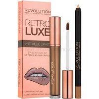 Makeup Revolution Retro Luxe sada na pery odtieň We Rule 5,5 ml