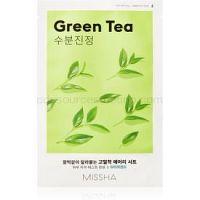 Missha Airy Fit Green Tea upokojujúca plátienková maska s hydratačným účinkom  19 g