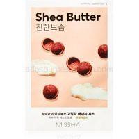 Missha Airy Fit Shea Butter plátenná maska s vysoko hydratačným a vyživujúcim účinkom  19 g