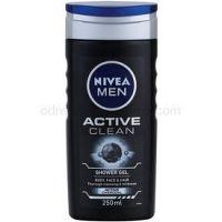 Nivea Men Active Clean sprchový gél na tvár, telo a vlasy pre mužov 250 ml