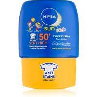 Nivea Sun Kids detské mlieko na opaľovanie do vrecka SPF 50+ 50 ml